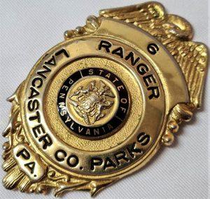 1950s US Pennsylvania Lancaster County Parks Ranger uniform badge #6