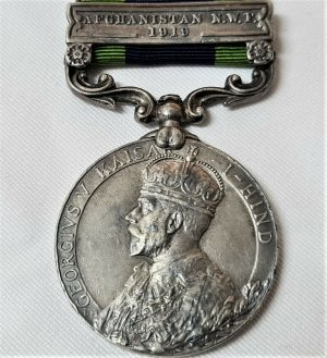 2nd Lieutenant THORNLEY 2nd 41st DOGRAS AFGHANISTAN N.W.F 1919 INDIA GENERAL SERVICE MEDAL