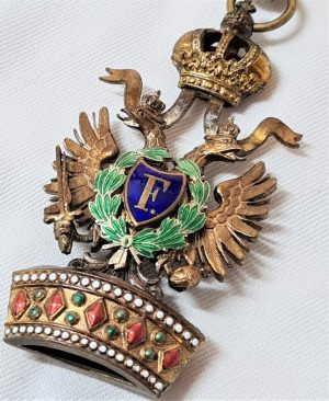WW1 Austria-Hungary Empire, Order of the Iron Crown, Commander's neck Badge