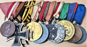 WW1 & WW2 Austria-Hungary set of 10 military medals