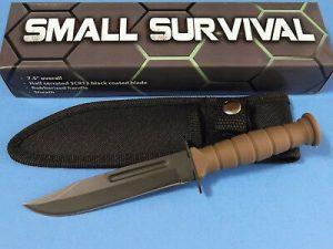 211360DS Desert Tan Mini Combat Bowie fixed knife 20cm