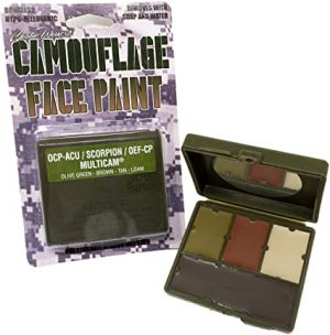 Bobbie Weiner 4 colour camouflage face paint kit Odourless