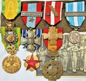 POST WW2 FRENCH INDOCHINA FOREIGN LEGION BRAVERY AND WOUNDED ACTION MEDAL GROUP