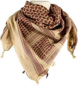 Shemagh Head Wrap Tan/Brown