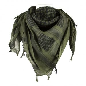 TACTICAL WOVEN SHEMAGH SCARF OLIVE DRAB / BLACK