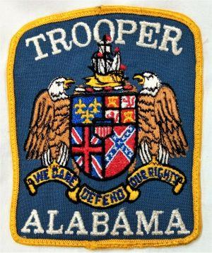 POST WW2 ERA OBSOLETE US ALABAMA STATE TROOPER POLICE FORCE UNIFORM PATCH