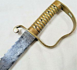 PRE WW1 BRITISH ARMY P1856 SAWBACK SOLDIER'S PIONEER SHORT SWORD BOER WAR SWORD