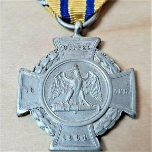 PRE WW1 KINGDOM PRUSSIA DUPPEL CROSS WAR WITH DENMARK MEDAL 1864 GERMANY