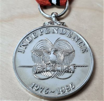 SCARCE PAPUA NEW GUINEA 10 YEAR ANNIVERSARY OF INDEPENDENC MEDAL 1985