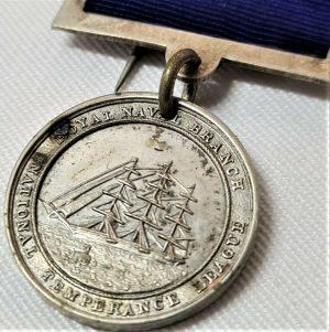 *VINTAGE & RARE 1868 PRE WW1 BRITISH ROYAL NAVY TEMPERANCE SOCIETY VICTORY MEDAL