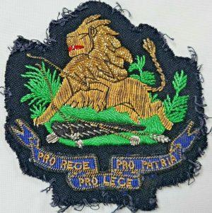 WW2 ERA BRITISH SOUTH AFRICA POLICE FORCE BLAZER BULLION PATCH