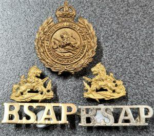 WW2 ERA BRITISH SOUTH AFRICA POLICE FORCE UNIFORM CAP BADGES BY FIRMIN LONDON