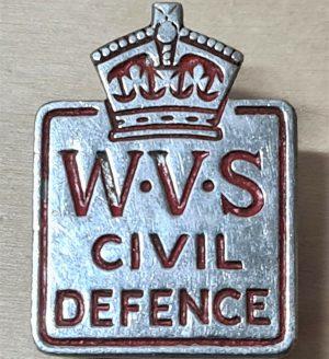 WW2 ERA BRITISH WOMEN'S VOLUNTEER SERVICE CIVIL DEFENCE UNIFORM BADGE