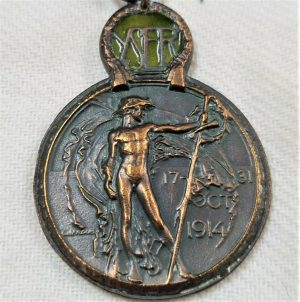 WW1 BELGIUM YSER FRONT CAMPAIGN SERVICE MEDAL